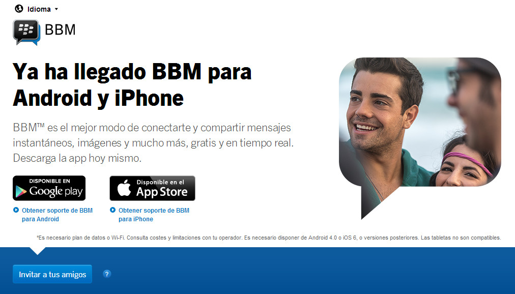 Blackberry messenger vuelve a relanzarse para Android e iPhone